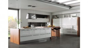 Caple's Taos White kitchen