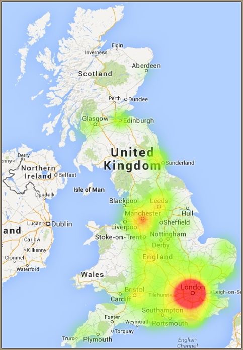 UK PR Agency Heatmap