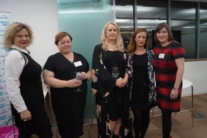 The panel at WiJ/WiPR Working with Brands debate: Eleanor Mills, Jackie Hunter, Louise Court, Helena Raven, Jo-ann Robertston