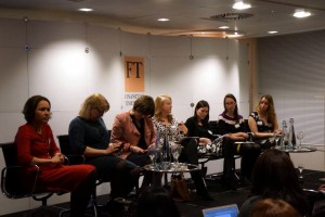 The WiJ panel: six top  business & finance journalists
