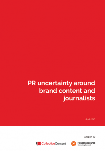 PR uncertainty around brand content and journalists