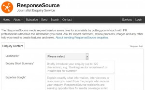 ResponseSource enquiry form