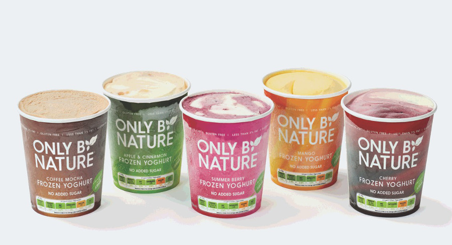 Only By Nature frozen yoghurts