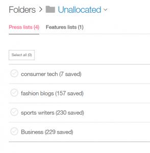 unallocated folder