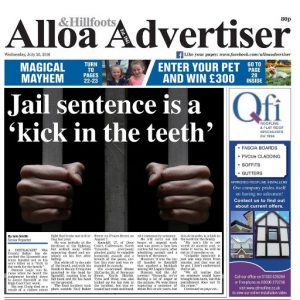 alloa front page