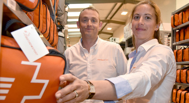 Michael and Gemma Davison of Firstaid4sport