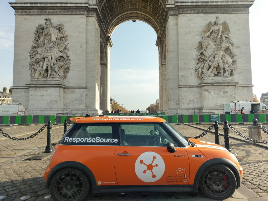 RSmini in front of the Arc de Triomphe