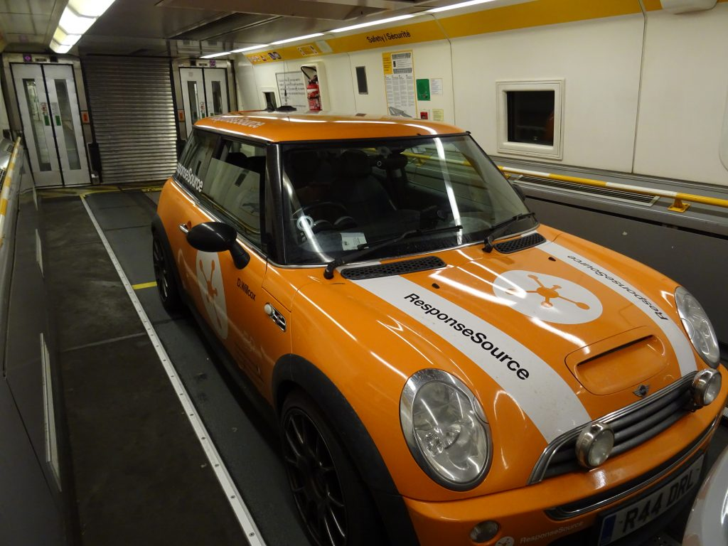 En route in the Channel Tunnel
