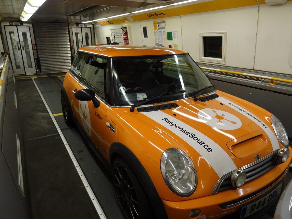 En route in the Channel Tunnel