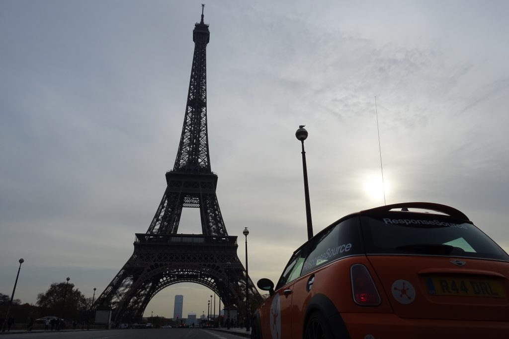 RSmini near the Eiffel Tower