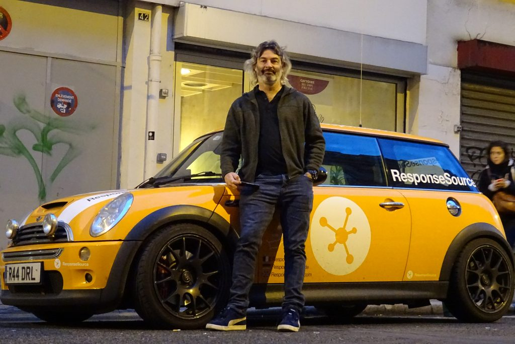 Daryl with the RSmini at the end of a long day