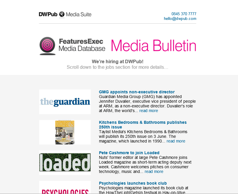 Media Bulletin, May 2014