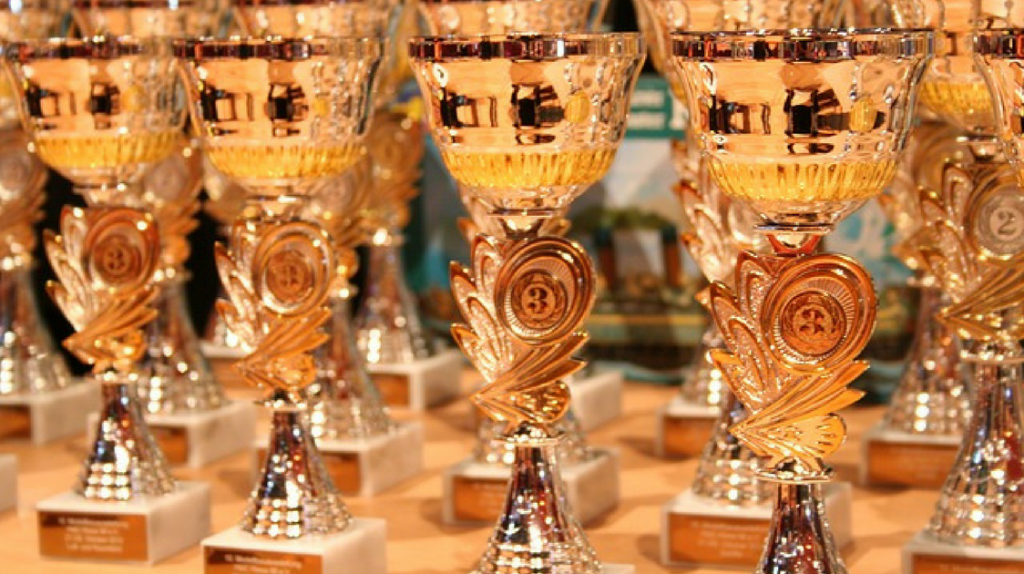 Award winners trophies