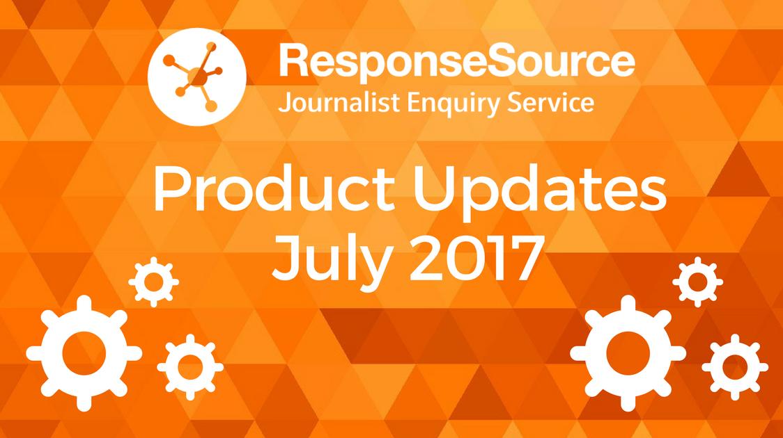 Journalist Enquiry Service Product Updates 2017
