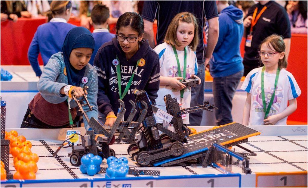VEX Robotics Championship students