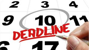 Deadline calendar