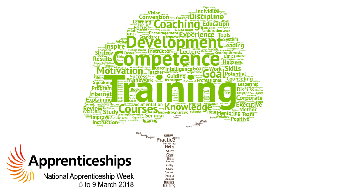 National Apprenticeship Week with word tree