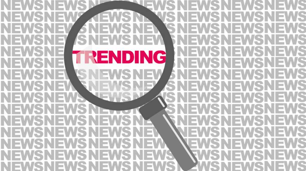Trending news magnifying glass