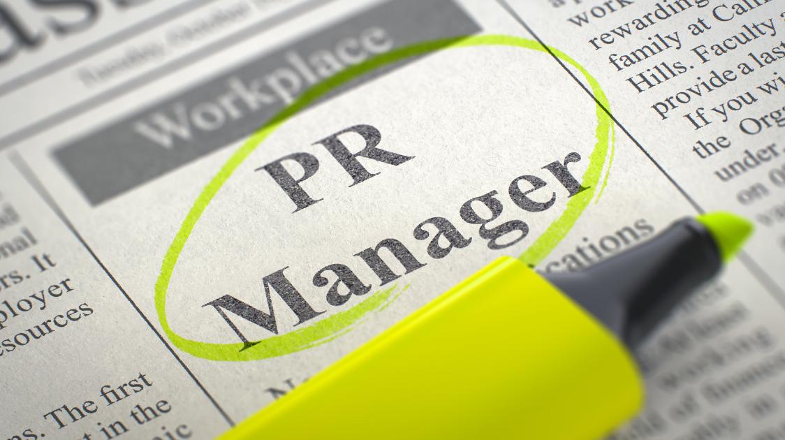 PR Manager job ad