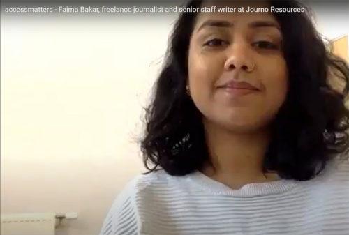 Faima Bakar on going freelance